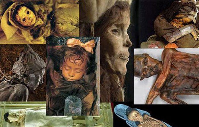 Dieci mummie conservate straordinariamente in diversi luoghi del mondo