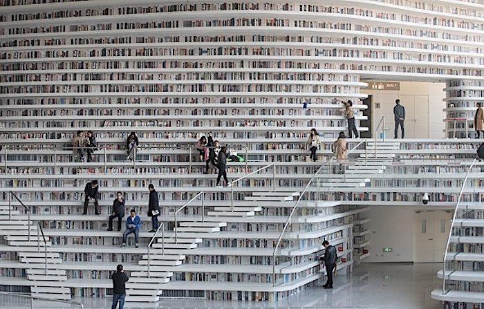 Biblioteca futurista in Cina, «un abisso tra foto e realtà»