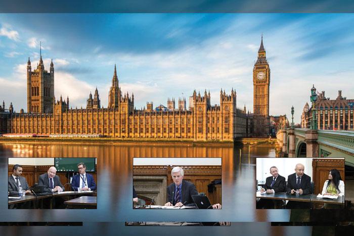 David Kilgour alla Tavola rotonda sul prelievo forzato di organi a Westminster.