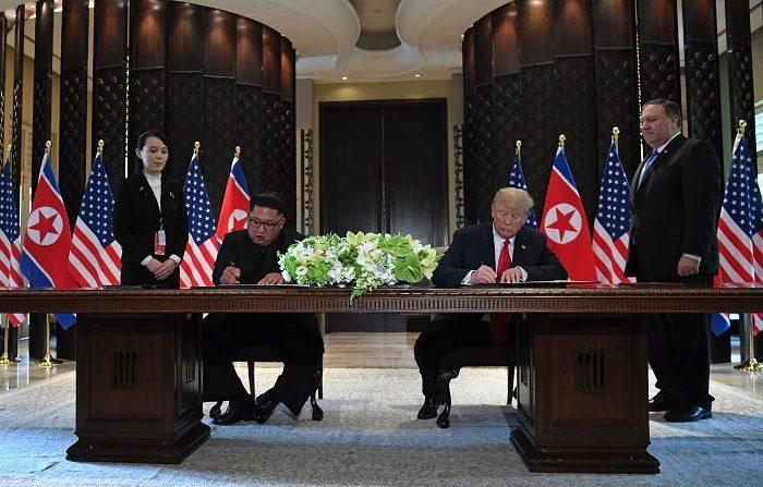 Cronaca dello storico incontro Trump-Kim