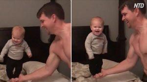 Divertimento tra bimbi e papà