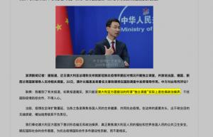 Screenshot di articolo in cinese con foto di Geng Shuang