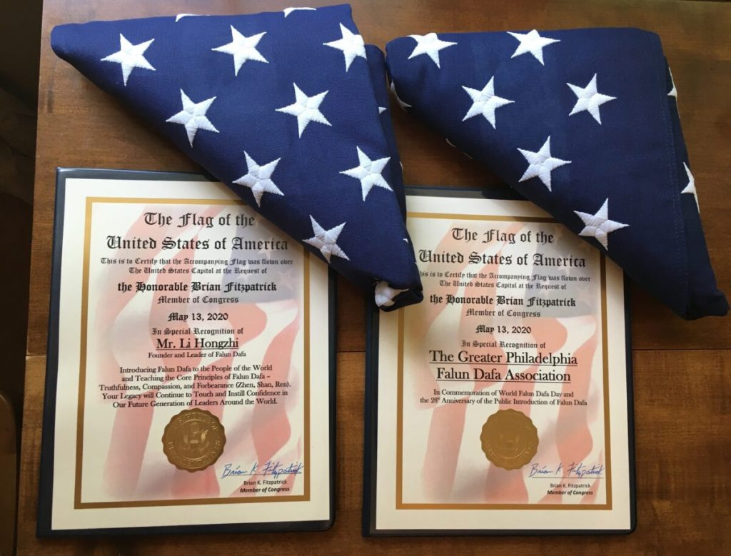 Attestati ufficiali delle due bandiere americane