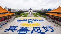 Taiwan, il grande spettacolo dall'alto dei praticanti del Falun Gong