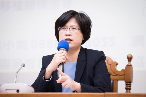 l'avvocato taiwanese per i diritti umani Theresa Chu