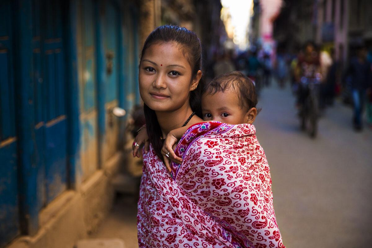 madre indù e il suo bimbo