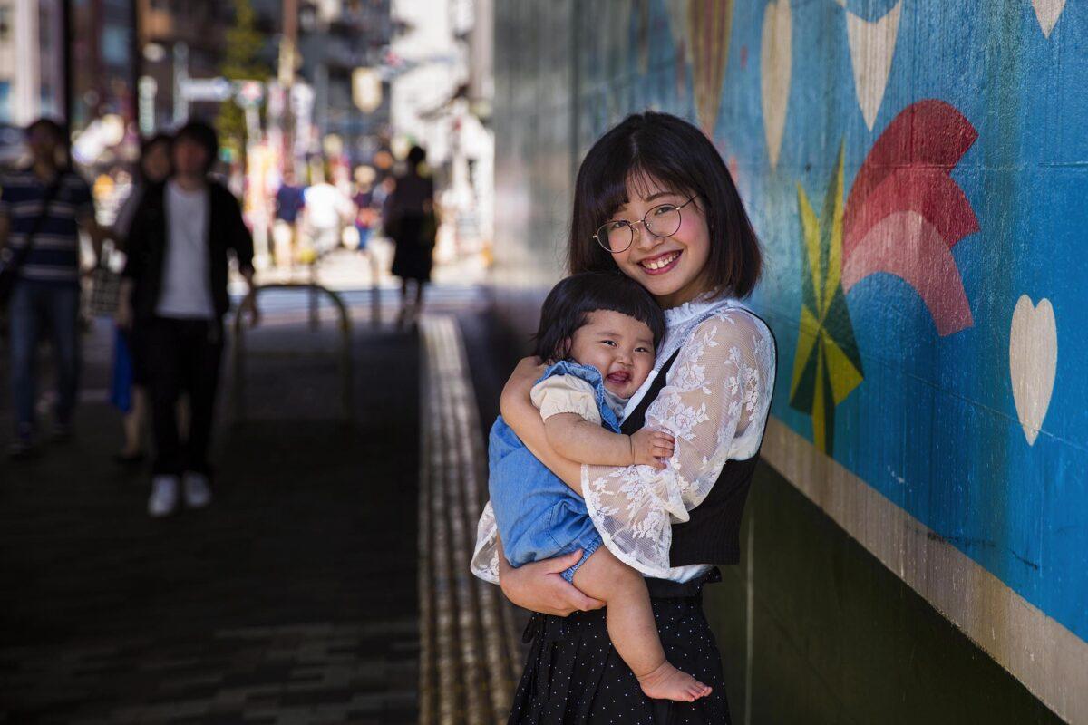 Mamma e filgio in Giappone