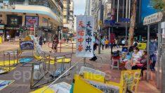 Teppisti pro-Pcc danneggiano stand del Falun Gong ad Hong Kong