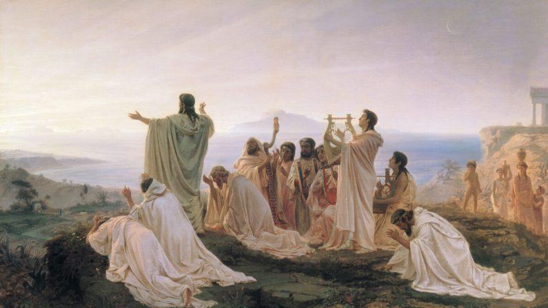'Pitagorici celebrano il sorgere del sole', riconnettersi alla bontà dell'universo