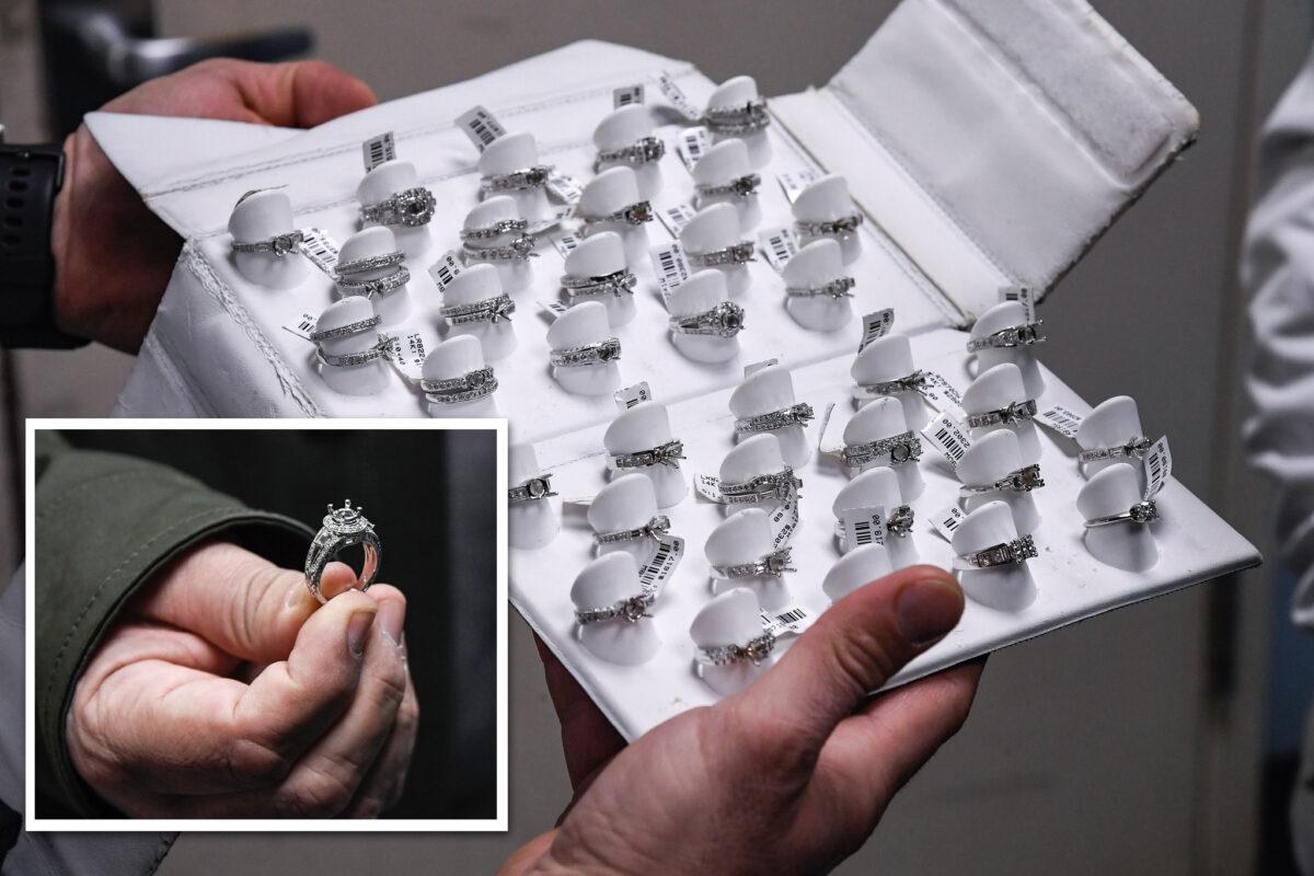 Dettaglio degli anelli