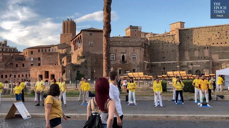 Roma, praticanti del Falun Gong denunciano i 22 anni di persecuzione in Cina